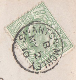 Swanton Morley Post Mark 1910