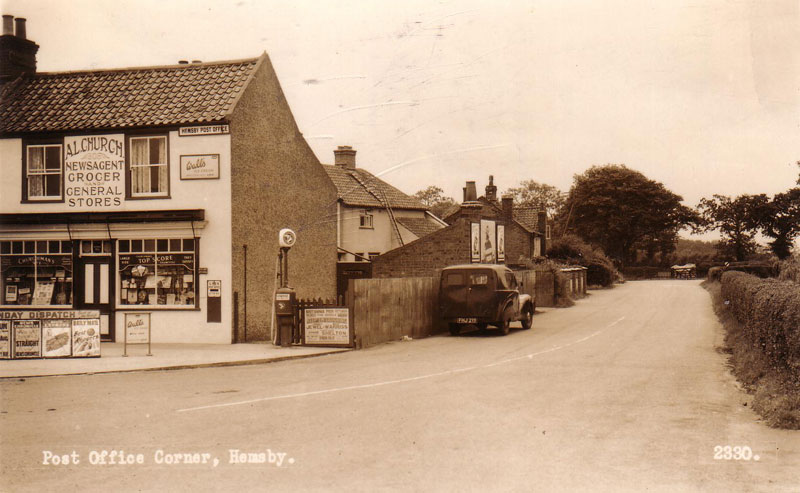 Hemsby Post Office & Stores c. 1957