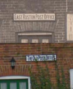 East Ruston Old Post Office Signs