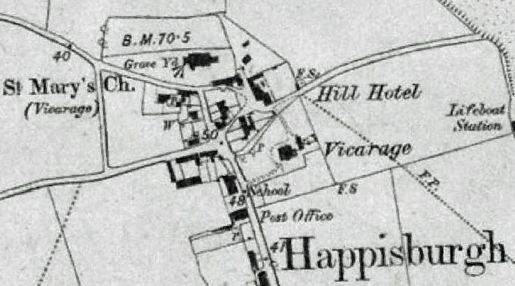 Happisburgh OS Map First Edition