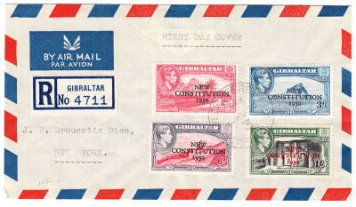 Gibraltar 1950 First Day Cover