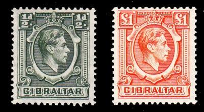 Gibraltar SG 121 & SG 131