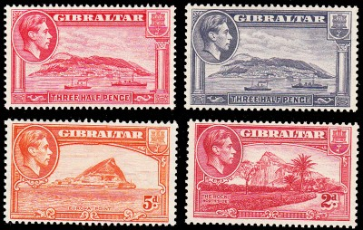 Gibraltar other colours & values