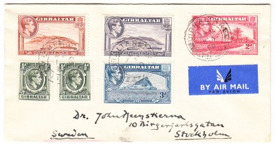Gibraltar to Sweden 1950