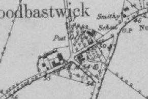 Woodbastwick OS Map