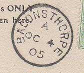 Baconsthorpe CDS 1905