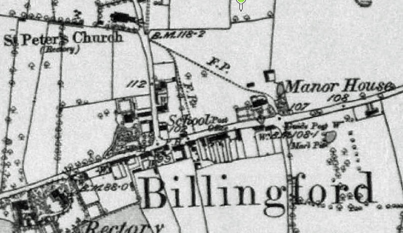 Billingford OS Map