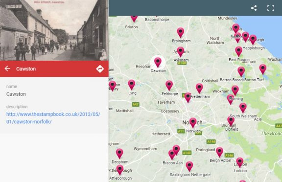 Old Norfolk Post Offices Map New