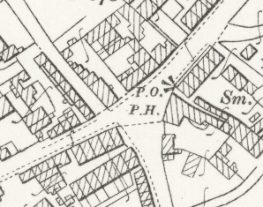 1907 OS Map Norwich Eaton Post Office