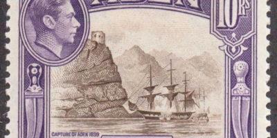 1939 Aden 10R Sepia & Violet SG27